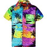 Funky Chemise Hawaïenne | Hommes | XS - 6XL | Manche-Courte | Poche-Avant | Hawaiian-Imprimer | Designs de Surf Unique