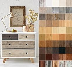 Rohr-Trading.SURFACES Selbstklebende Folie Klebefolie für Möbel Küche Tür & Deko Holzoptik Verschiedene Dekore & Maße inkl Filzrakel