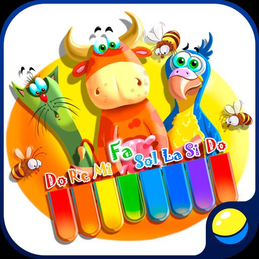 Baby-Zoo-Klavier mit Katzen und anderen Tieren für kleine Kinder - Spaß-pädagogisches Spiel für Vorschulkinder, zum von Noten, von Klavier-Schlüsseln, von Tiergeräuschen und von Stimmen zu erlernen, Melodien zu spielen und aufzuzeichnen (Schlüssel Fliese)