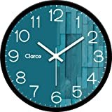 Clarco Brand Big Size Designer Analogue Round Plastic Wall Clock with Glass for Home/Living Room/Bedroom/Kitchen/Office…