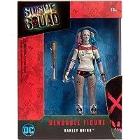 NJ Croce Suicide Squad Movie Harley Quinn Bendable Figure, Multi Color (6-inch)