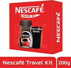 NESCAFÉ Travel Kit (Black) - NESCAFÉ Classic Coffee, 200g with Travel Mug (Limited Edition)