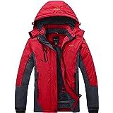 Wantdo Giacca da Sci Montagna Invernale Parka da Neve Caldo con Cappuccio Cappotto da Snowboard Giubbotto da Escursionismo Im