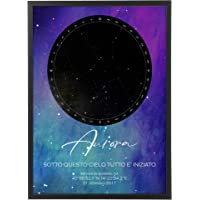 Mappa Stellare Galassia Personalizzata con Cornice - Quadro varie dimensioni vari colori Made in Italy Star Poster Mod…