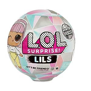 L.O.L Surprise! 560319 L.O.L Lils Winter Disco Series avec 5 Surprises (Le Style Peut Varier)