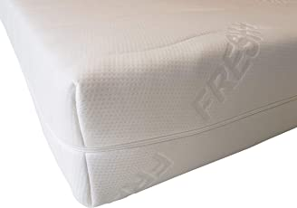 Unbekannt Fresh+ Matratzenbezug | Doppeltuch-Jersey | Allergikerfreundlich | Abnehmbar und Waschbar | mit 4-seitigem Reißverschluss | Matratzenschoner | Ersatzbezug