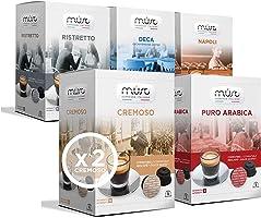 Must Espresso Italiano Variety Pack 96 Capsule Caffè compatibili Dolce Gusto: Cremoso, Puro Arabica, Napoli, Deca, Ristretto