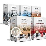 MUST 96 capsule Caffè Variety Pack Degustazione, 6 Pack da 16 Capsule, Intensità miste da 5/8 a 8/8, Cialde Autoprotette Comp