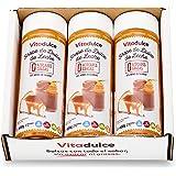 Sirope de dulce de leche sin azúcar, Topping de dulce de leche, Sirope bajo en calorías 400 gr. Pack de 3 unidades - Vitadulc