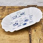 Pommesschale Porzellan - Handgemacht von Ahoi Marie - Motiv Papierschiffe - Maritime Currywurst-Schale original aus dem...