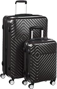AmazonBasics – Trolley mit geometrischem Muster, 2-teiliges Set (55 cm, 78 cm), Schwarz