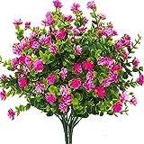 Ksnnrsng Artificielle Fleurs,4pcs de Fleurs en Plastique artificielles,résistantes aux UV,sans fondu,pour intérieur extérieur