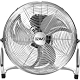 OZAVO staande ventilator, metalen windmachine met 3 snelheden, power vloerventilator, tafelventilator ⌀30/40/45 cm, luchtkoel