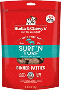 Stella and Chewy's Freeze-Dried Raw Surf'N Turf Dinner Patties for Dogs 25 ounce