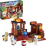 LEGO 21167 Minecraft De Handelspost Bouwset met Poppetjes van Steve en Skelet, Constructiespeelgoed voor Kinderen vanaf 8 Jaa