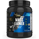 Strava Nutrition Mass Gainer with Whey protein, Ashwagandha extract and digestive enzymes (Vanilla Flavour) 1kg / 2.2 lbs