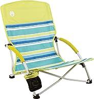 Coleman Beach Deluxe Low Sling Chair, Citrus