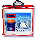 DODO - Couette Chaude Mont Blanc 240X260 - Densité 300g/m2 - Garnissage Duvet d'Oie Plumettes - Housse 100% Percale de Coton