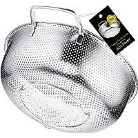 BasicForm Passoire Micro-Perforée avec Poignée et Base en Acier Inoxydable 22.5cm