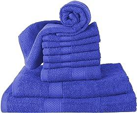 Cloth Fusion 380 GSM Pure Cotton Towel of 10 Pcs. (Bath, Junior Bath, Face & Hand)