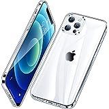 Vakoo Silikon Case für iPhone 12 Hülle, iPhone 12 Hülle Silikon Weiche Dünn Transparent Handyhülle für iPhone 12 / iPhone 12