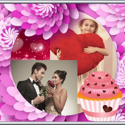Romantische Foto-Collage -