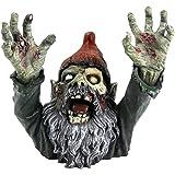 Design Toscano Zombie Gnombie Gothic-Gartenstatue Grabsteinstatue, Polyresin, vollfarbe, 28 cm