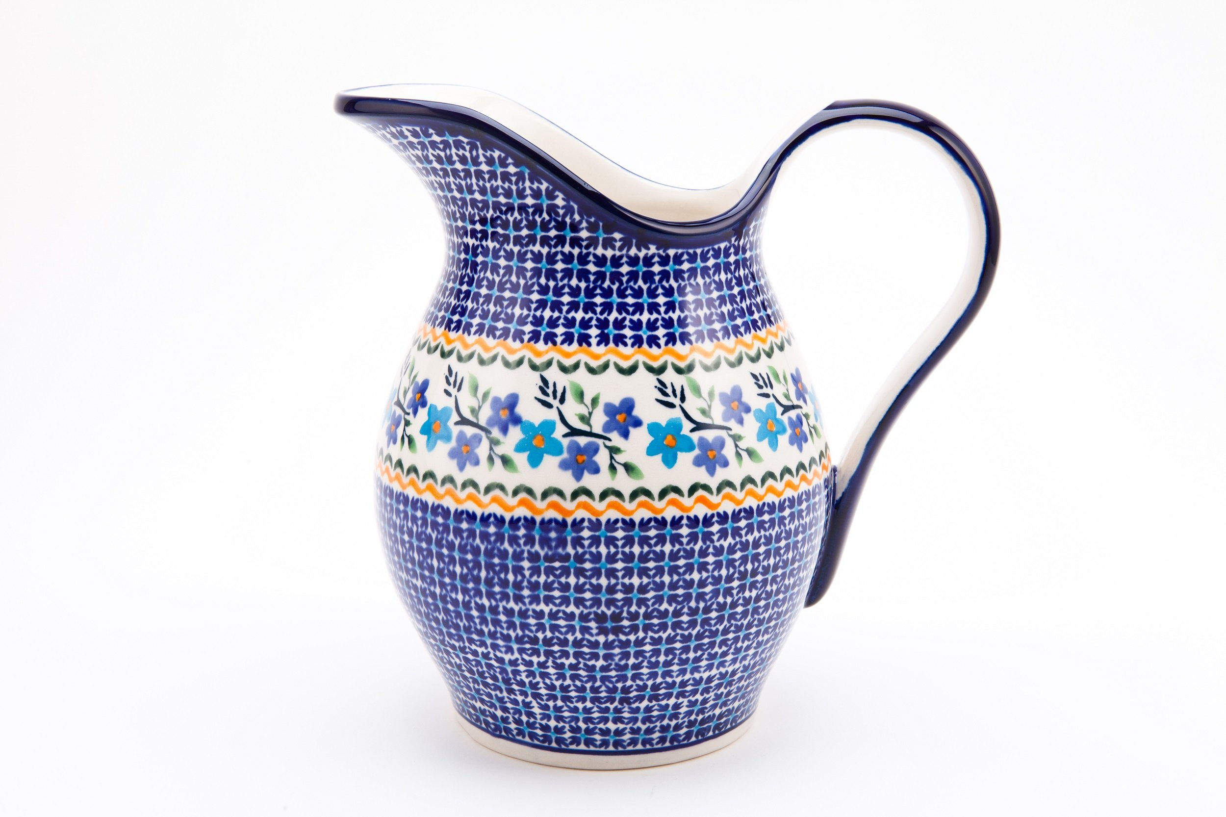 Hand-Decorated Polish Pottery Carafe/Pitcher/Jug 1.7Litre ø21,5xh21,0cm in our EXCLUSIVE DESIGN 1154A