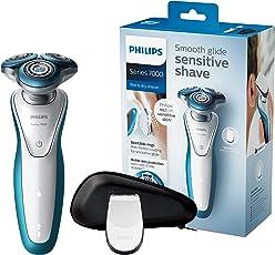Philips Elektrischer Nass-und Trockenrasierer Series 7000 mit Gentle-Precision Pro Klingen S7310/12, Präzisionstrimmer