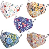 5Pcs Face_Masks Washable Reusable Face Coverings with Filter Pocket Cotton Bandana Balaclava Anti Dust Mouth Protection…