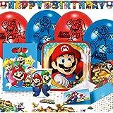 Amscan 9902642 – party set Super Mario, festservis, barnfödelsedag