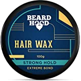 Beardhood Extreme Bond Strong Hold Hair Wax For Men, Natural Look, 100g
