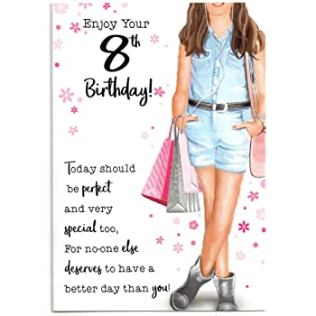 Birthday Card For Eight 8 Year Old Girl