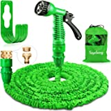 Suplong 50ft Garden Hose Expandable Water Pipe 3 Times Expanding Flexible Magic Hose Pipes With 7 Function Spray/Brass Connec