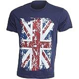 GB Mens Union Jack Print 100% Cotton Short Sleeve Casual T-Shirt/Top