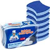 MR.SIGA Éponge à Récurer en Cellulose Anti-Rayures, Éponge à Vaisselle Double Face pour Cuisine, Lot de 12
