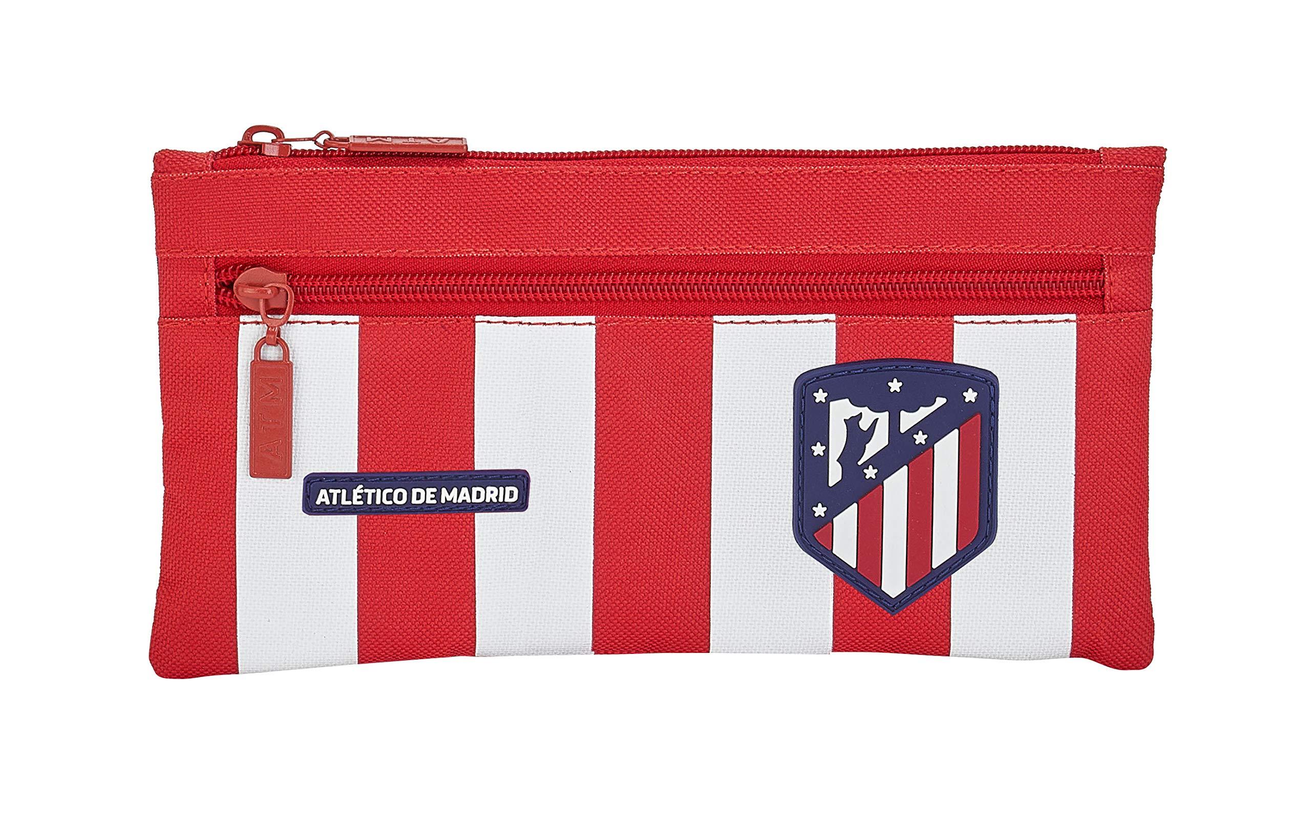 Safta 811958029, Atlético Madrid Portatodo Doble Niños Unisex, Varios, 22×11