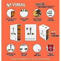 VIMAL - X113 Wave 3 Pin Travel Universal Multi Plug with Surge Protector & Indicator.