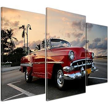 Leinwandbild Cuba Oldtimer Resort II