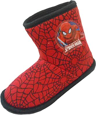 Marvel-Spiderman Tongs Enfant gar/çon Bleu et Orange du 28 au 34