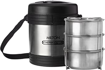 Milton Legend Stainless Steel Container Set, 240ml (Silver)