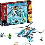 LEGO Ninjago - Shuricóptero Set de construcción de Helicóptero Ninja de juguete, incluye dos Samurais de juguete, Novedad 201