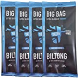 BEEFit Snacks 1kg of Truly Traditional Biltong – High Protein, Healthy, Low Sugar, On The Go Snack, Beef Jerky (4x250g)