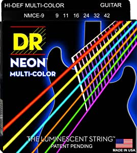 DR NEON RED HiDef NRE-9 E-Guitar String Set 009-042 Saiten E-Gitarre Set
