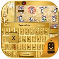 Golden Butterfly Theme&Emoji Keyboard
