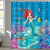 180 x 180 cm Disney Kleine Meerjungfrau Ariel /& Sebastian Duschvorhang