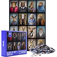 HXMARS Jigsaw Puzzles: 1000-Piece-Puzzles for Adults Kids, Large Puzzles Game for Family-Animal Model, Art with…