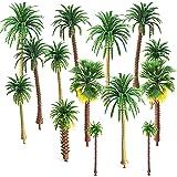 Mlysnd Modell träd, 30 stycken palmträd plast träd DIY landskap 3D modell för hantverk, konstgjord regnskog layout (5-9 cm, g