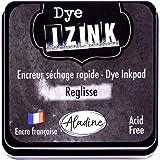 Aladine - Encreur Izink Dye Réglisse - Grand Encreur Noir à Séchage rapide pour Tampons et Pochoirs - Scrapbooking et Carteri