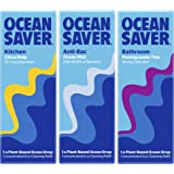 OceanSaver Cleaning EcoDrops Trio | Anti-Bac Cleaning Spray, Kitchen Degreaser & Bathroom Cleaner | Eco/Vegan Friendly…